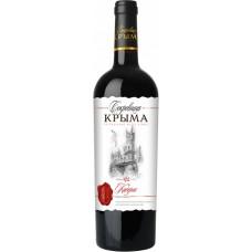 Вино Сокровища Крыма Каберне красное полусладкое 0.75л