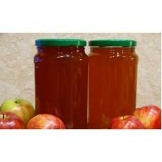 Сок яблочный натуральный из домашних яблок без мякоти 0.5 л.