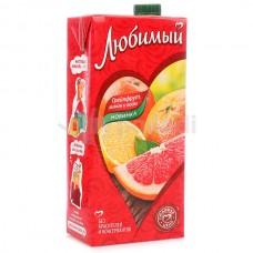 Любимый Грейпфрут Лимон Лайм напиток сокосодержащий 1.93л.