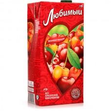 Любимый Яблоко Вишня Черешня напиток сокосодержащий осветленный 1.93л.