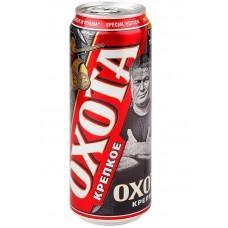 Пиво Охота крепкое ж.б. 0.45л