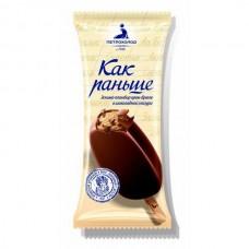Эскимо Как Раньше ГОСТ мороженое пломбир крем- брюле в шоколадной глазури 80г.