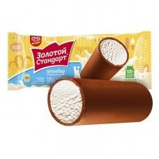 Трубочка Золотой Стандарт мороженое пломбир во взбитой глазури 74г.