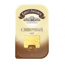 Сыр Брест-Литовский Сливочный 50% нарезка 150г